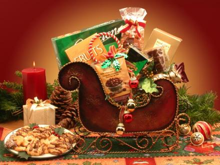Seasonal Holiday Sleigh Gift