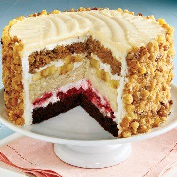Fresh Fruit-Filled Layer Cake