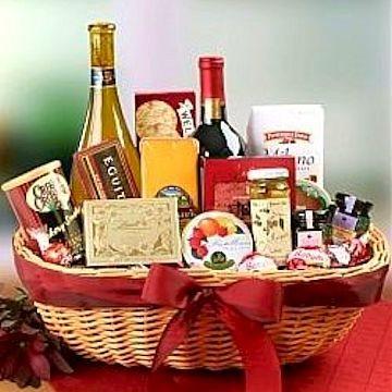 Premium Gourmet Wine Basket