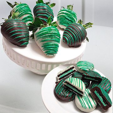 Mint Chocolate Covered Strawberries