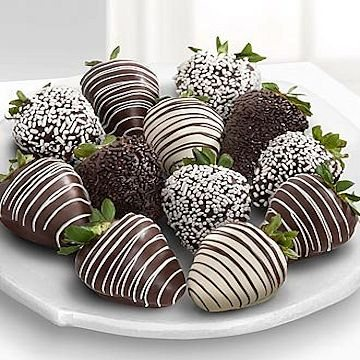 White & Dark Chocolate Covered Strawberries