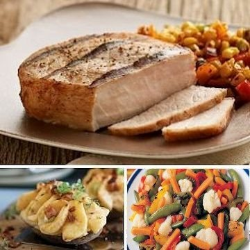Send a home-cooked pork chop dinner.