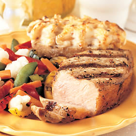 Send a home-cooked pork chop dinner.