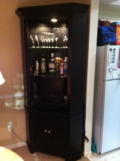 Dining Room Hutch. Sunrise China Cabinet Cappuccino Formal Dining ...