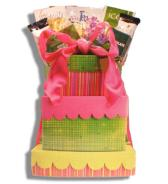 Wrapped Gift Birthday Gift Basket