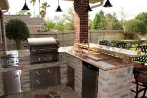 Outdoor kitchens houston outdoor kitchen gas grills for Outdoor kitchen designs houston