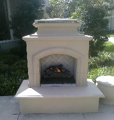 Outdoor kitchens houston outdoor kitchen gas grills Pre fab outdoor fireplace