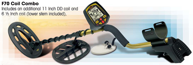 Fisher F70 Metal Detector Coil Combo Gold Rush Trading Post