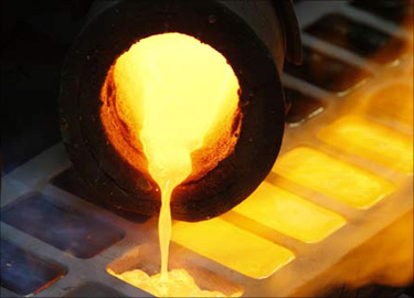 gold smelting