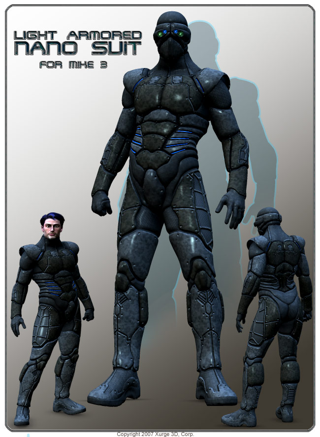 "a general concept against ""armors"" Nanosuit_M3_Display"