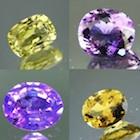 various gemstone colours