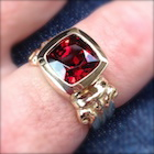 red spinel in local setting