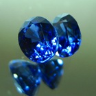 unheated pair of blue sapphires