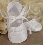 100% Silk Girl's Christening Shoe 
