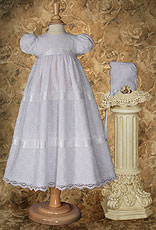 Girls Layered Lace Christening Dress