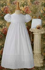 100% Cotton Gown w/Lace Border