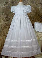 Girls Cotton Batiste Christening Gown