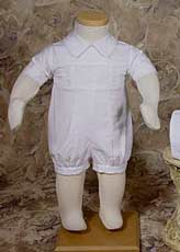 Boy's Cotton Smocked Romper