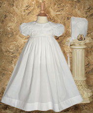 Cotton Christening Dress With Battenburg Lace Collar