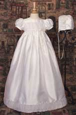 Silk Dupioni Gown W/Silk Organza Pleats