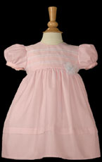 Pink Organza Overlay Dress