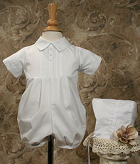 PolyCotton Romper W/ Pin Tucking