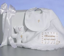 Personalized Christening Keepsake Blanket