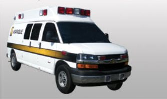 The van style allows easier maneuverability and is less expensive than a Type I or Type III ambulance.