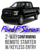 Ford F-150, F250, F350, 2-Way Remote Car Starter Kit Code Alarm CA5554 VSS